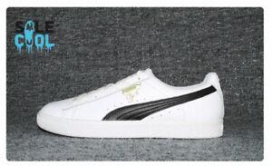 Puma Men's Sneakers Clyde Core L Foil White Black Team Gold 364669-01