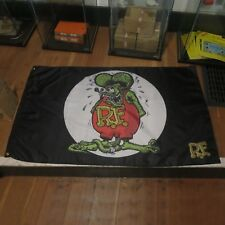 Rat Fink Flag Banner Sign hot rod 32 ford duce chevy street rod mustang nova av8