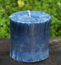 90hr OCEAN BREEZES, ROSES & PATCHOULI Triple Scented OVAL PILLAR CANDLE Gifts