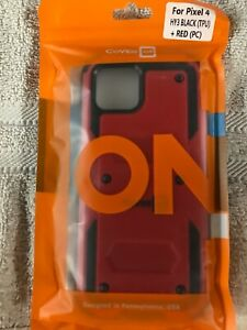Red and Black CoverON Case for Google Pixel 4, NEW