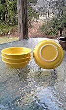 "set 4 -19 OZ MEDIUM CEREAL SOUP BOWL sunflower yellow 6 7/8"" FIESTA WARE new"