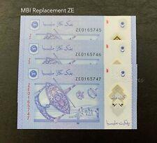 "Malaysia - MBI RM1 3xRunning "" Replacement ZE "" | UNC"