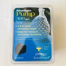 TotalPond 300 GPH Medium Fountain Pump 7.2 ft Pumping Height NIB