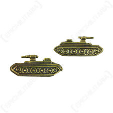 WW2 Soviet Armoured Troops Badges - Pair - Repro Russian Army Tank Split Pin New