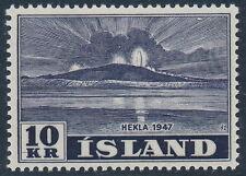 Iceland Scott 252/Facit 257, 10kr blue-black Hekla high value, VF mint LH