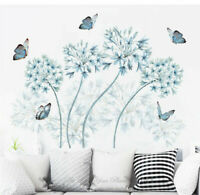 Blue Dandelion Butterflies Wall Stickers Vinyl Decal Kid Nursery Decor Art Mural