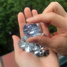 20-pack Acrylic Rhinestone Button Faceted Round Crystal Sewing Craft Decoration