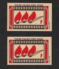 Ancienne  étiquette allumettes  Autriche  BN4661 Flamme