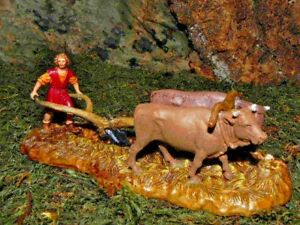 "Nativity Scene Villager Figurine for 2"" Landi Presepe Figura para Nacimientos"