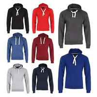 Mens Fleece Hooded Jacket Sweatshirt Plain Colour Pullover Hoodie Jumper Hoody