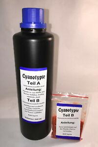 540 ml Cyanotypie Set, Cyanotype, Blaudruck, Blaufärben