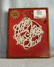 Lenox 2004 Let It Snow Pierced Christmas Ornament in Box