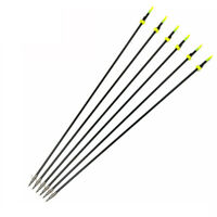 "6pcs 32"" Archery Bow Fishing Hunting Arrow OD 8mm w/Broad Heads F Compound Bow"