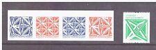 Sweden MNH  2012 Geometric Figures  Self Adhesive mint set stamps