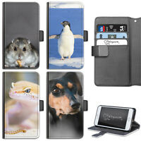 ANIMAL HAMSTER PHONE CASE IPHONE 6,7,8 PLUS, X LEATHER FLIP CASE COVER FOR APPLE