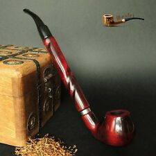 """LARGE WOODEN TOBACCO  SMOKING PIPE  CHURCHWARDEN no 65 LONG 11""""   Red"""