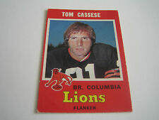 1971 O-PEE-CHEE CFL FOOTBALL TOM CASSESE CARD #31 **B.C. LIONS**