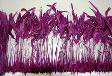 "30 Pcs BURNT COQUE FRINGE - PLUM 8-12"" Tall Feathers Pad"