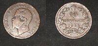 MONETA DA 10 CENTESIMI RAME - VITTORIO EMANUELE II - 1862  BB -       N.31