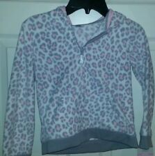 Carters girl tops fleece pink & gray JACKET with hood NWT.....Super cute..size 6