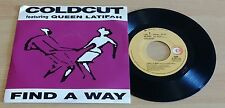 "COLDCUT FEATURING QUEEN LATIFAH - FIND A WAY - 45 GIRI 7"" - ITALY PRESS"