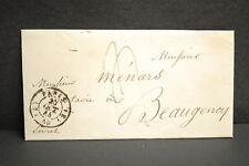 PARIS 25 OCTOBRE 1844 adressé à Monsieur Ménars Notaire à Beaugency