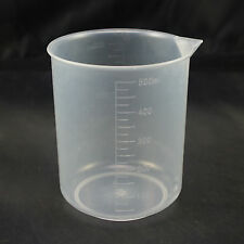 4pcs 500ml Plastic Measuring Cup Graduated Beaker With Scale No Handle