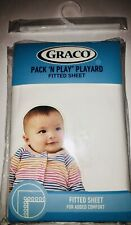 """GRACO Pack 'N Play Playard Fitted Sheet White 39"""" x 27"""" NEW #2732 Fits Most"""