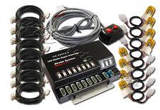160W 8 HID Amber Bulbs Hide A Way Emergency Hazard Warning Strobe Lights Kit 4
