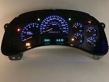 06 07 Sierra Silverado Speedometer Instrument Gauge Cluster REBUILT Blue LEDs