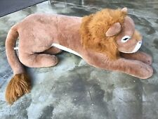 "Perfect Quality Product Large Plush MALE LION, 62"" Long, Stuffed Animal"
