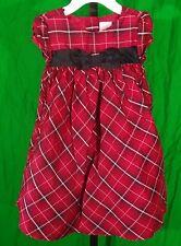 Size 12-18 Months Silk Dress GYMBOREE Red Black Plaid 12-18 mos. Girls