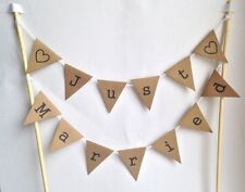 WEDDING Just Married CAKE BUNTING Topper Rustic Vintage Decoration Manila