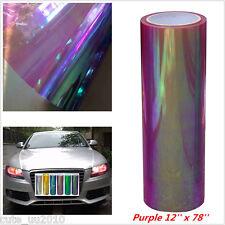 Car Headlight Taillight Fog Light Vinyl Tint Film Headlight film 200x30cm Purple