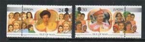 Isle of Man - 1996, Europa, Famous Women set - MNH - SG 701/2