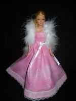Silver Fringe Boa 14 inch Handmade Wrap for Barbie doll fashion accessory