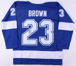 J. T. Brown Signed Lightning Jersey (Beckett COA) Tampa Bay Winger / Minn. Wild