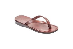 Woman's Biblical Jerusalem Jesus Flip-Flop Handmade Natural Leather 5-9 sizes