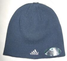 Kids Older Boy's Adidas Reversible Winter Beanie Skull Cap Hat Sz Os