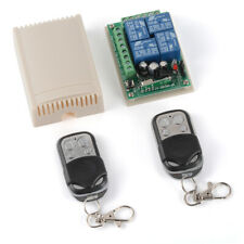DC 12V Channel Wireless RF Remote Control Relay 4CH Transceiver Receiver AH726
