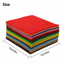 42pcs Assorted Colors Felt Fabric Bundles Craft Squares Pack Sewing 15cm X15cm