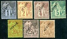 GUYANE 1892 Yvert 16-19,22-24 * teils gebprüft 380€(D7573