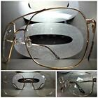 Mens or Women CLASSIC VINTAGE RETRO Style Clear Lens EYE GLASSES Rose Gold Frame