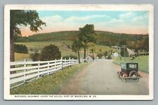 National Highway—Wheeling Wv Rare Antique Road Transportation Car West Virginia