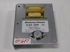 BENTRON POWER S-5/3 OVP POWER SUPPLY DK-3660