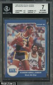 1985 Star Lite Basketball All-Stars #8 Kareem Abdul-Jabbar Lakers HOF BGS 7