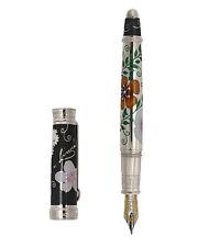 David Oscarson Carl Linnaeus Black & Silver LE Fountain Pen - Brand New!!