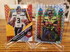 Russell Wilson Mosaic Stained Glass W2w /25 Orange Florescent �!