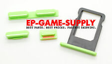 Power Volume Mute Button SIM Card Tray Set Replacement Parts for iPhone 5C Green