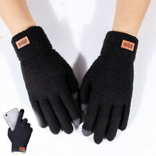Cycling Gloves Knitting Thickened Outdoor Touch Screen Gloves Men's Five Finger